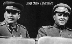Joseph Stalin et Enver Hoxha
